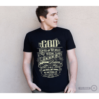 FOR GOD SO LOVED THE WORLD […], T-SHIRT HOMMES - TAILLE M