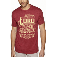 THE LORD IS MY SHEPHERD - T-SHIRT HOMMES - TAILLE S